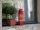Recycling Feuerlöscher Kerzenhalter/Vase FIRE rot