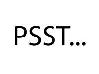"""Wandfolie """"PSSST..."""""""