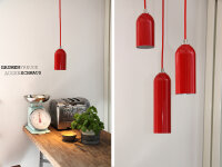 Upcycling Lampe FIRELIGHT rot